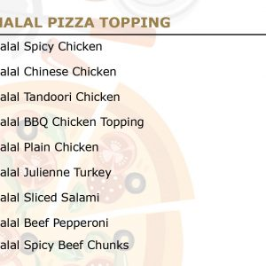 Halal Pizza Topping